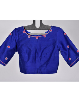 Pure raw silk blouse with all over mirror work-SB01A-SB01A-sm