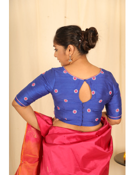 Pure raw silk blouse with all over mirror work-SB01A-S-3-sm