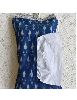 Tissue box cover in blue silk ikat: HTB02-HTB02-sm