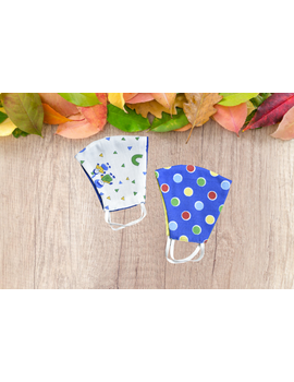 Childrens Printed Three Layer mask - set of two masks-CPM-sm