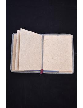 Reusable diary sleeve with diary - red : STJ01-Handmade-3-sm