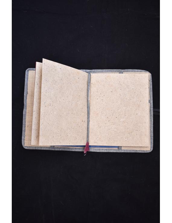 Reusable diary sleeve with diary - red : STJ01-Handmade-3