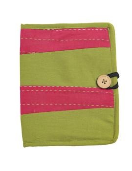 Reusable diary with sleeve - green : STJ03-Ruled-1-sm