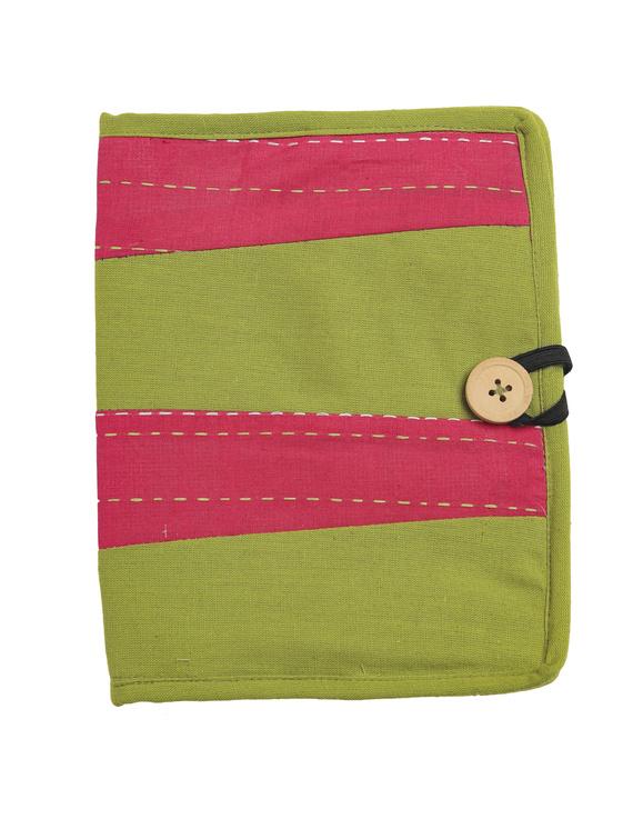 Reusable diary with sleeve - green : STJ03-Ruled-1