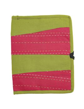 Reusable diary with sleeve - green : STJ03-Ruled-2-sm
