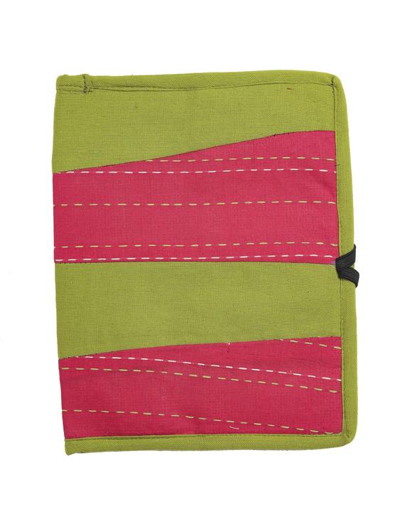 Reusable diary with sleeve - green : STJ03-Ruled-2