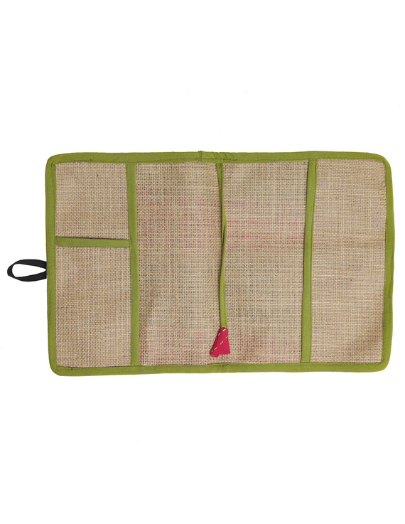 Reusable diary with sleeve - green : STJ03-Ruled-3