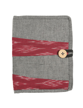 Reusable diary sleeve with diary - Grey : STJ05-STJ05-Handmade-sm