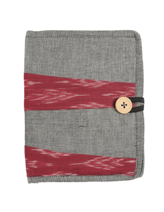 Reusable diary sleeve with diary - Grey : STJ05-STJ05-Handmade