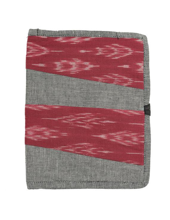 Reusable diary sleeve with diary - Grey : STJ05-Handmade-1