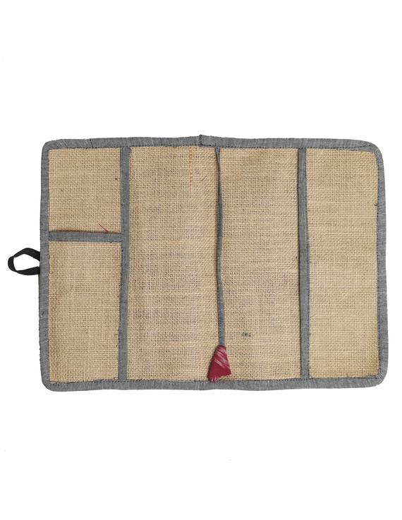 Reusable diary sleeve with diary - Grey : STJ05-Handmade-2