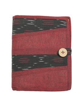Reusable diary sleeve with diary - maroon : STJ04-Handmade-1-sm