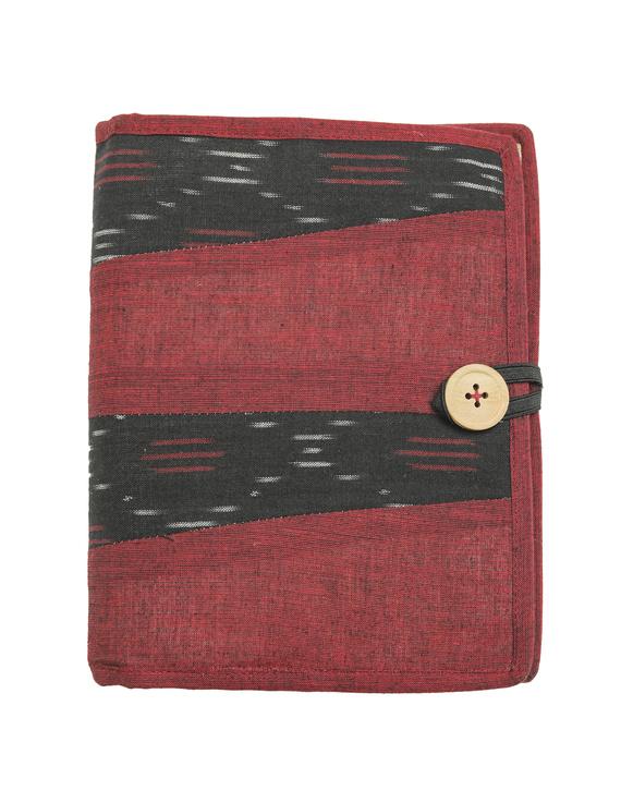 Reusable diary sleeve with diary - maroon : STJ04-Handmade-1