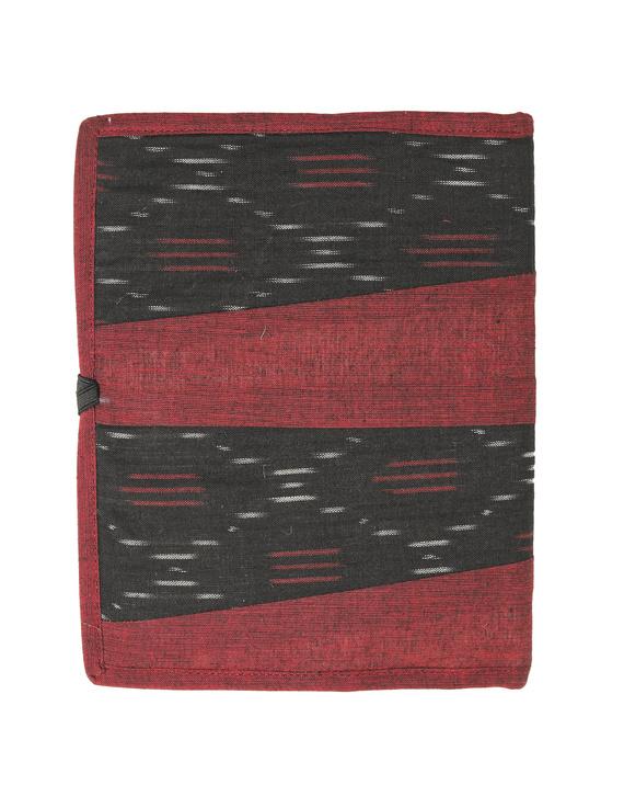 Reusable diary sleeve with diary - maroon : STJ04-Handmade-2