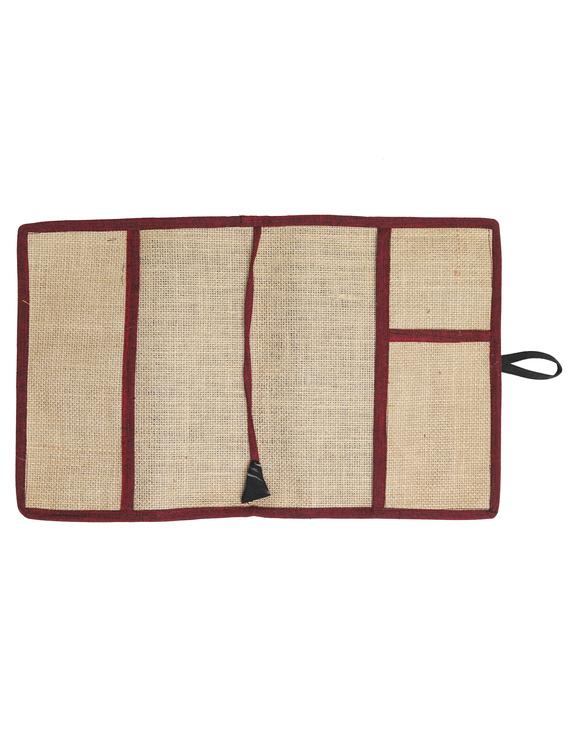 Reusable diary sleeve with diary - red : STJ01-Handmade-2