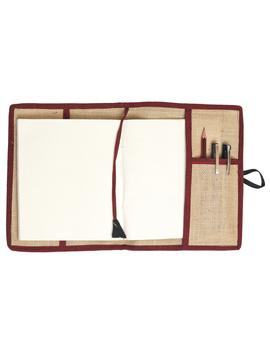 Reusable diary sleeve with diary - maroon : STJ04-Handmade-4-sm