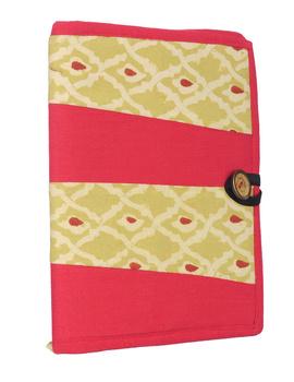 Reusable diary sleeve with diary - red : STJ01-Handmade-1-sm