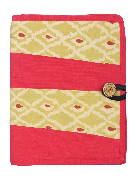 Reusable diary sleeve with diary - red : STJ01-STJ01-handmade