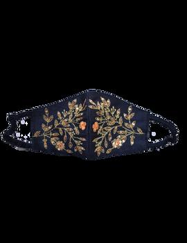 Pure silk mask with zardosi hand embroidery: ZM3-ZM3A-sm