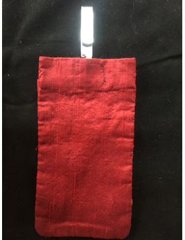 Silk Cell Phone pouch with saree hook : CPS01-5-sm