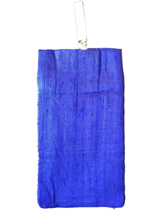 Silk Cell Phone pouch with saree hook : CPS03-1