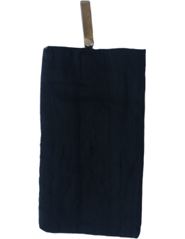 Silk Cell Phone pouch with saree hook - black large : CPSL02-1-sm