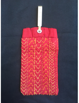 Silk Cell Phone pouch with saree hook : CPS01-CPS01-sm