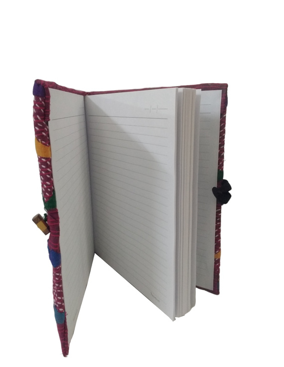 HAND MADE APPLIQUE WORK JOURNAL IN MAROON: STH01-3