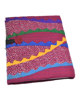 HAND MADE APPLIQUE WORK JOURNAL IN MAROON: STH01-1-sm