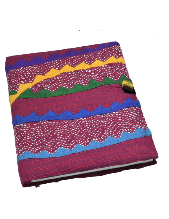 HAND MADE APPLIQUE WORK JOURNAL IN MAROON: STH01-STH01