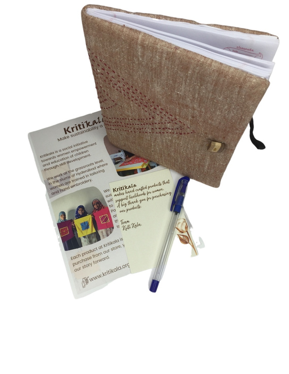 Notebook with embroidered cover : STN01-4