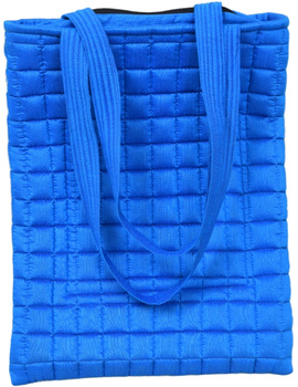 BLUE SILK QUILTED TOTE CUM LAPTOP BAG WITH HAND EMBROIDERY: TBA01-2-sm