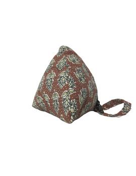 Small coin purse in block print fabric : MSC01-4-sm