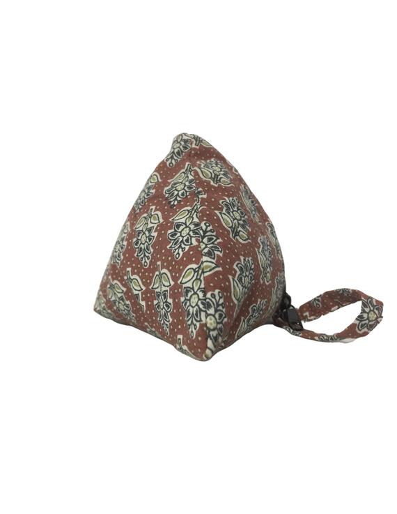 Small coin purse in block print fabric : MSC01-4