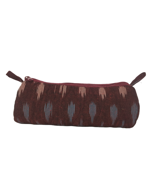Ikat round shape pencil pouch : PPR01-1