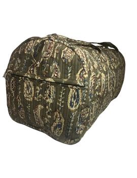 Green kalamkari duffle bag : VBL02-2-sm