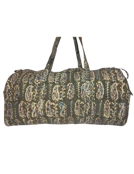 Green kalamkari duffle bag : VBL02-VBL02-sm