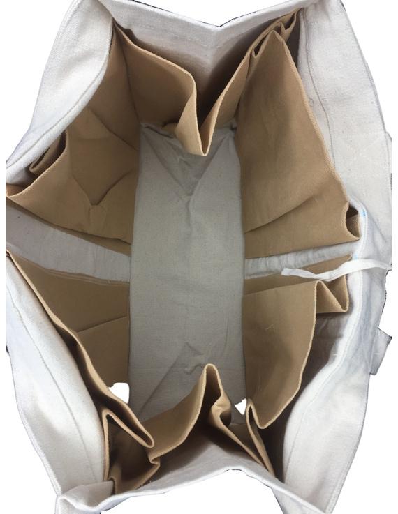 Canvas vegetable bag - white : MSV01-4