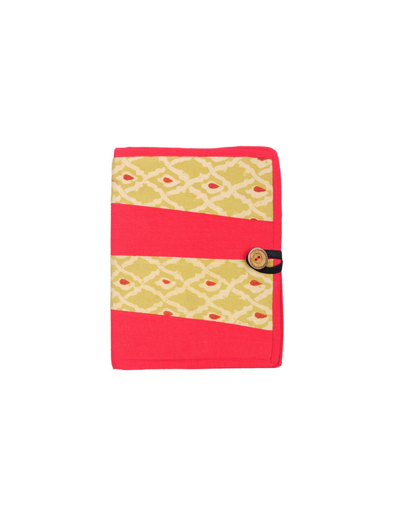 Reusable diary sleeve with diary - red : STJ01-Ruled-4