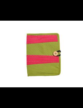 Reusable diary with sleeve - green : STJ03-Ruled-6-sm
