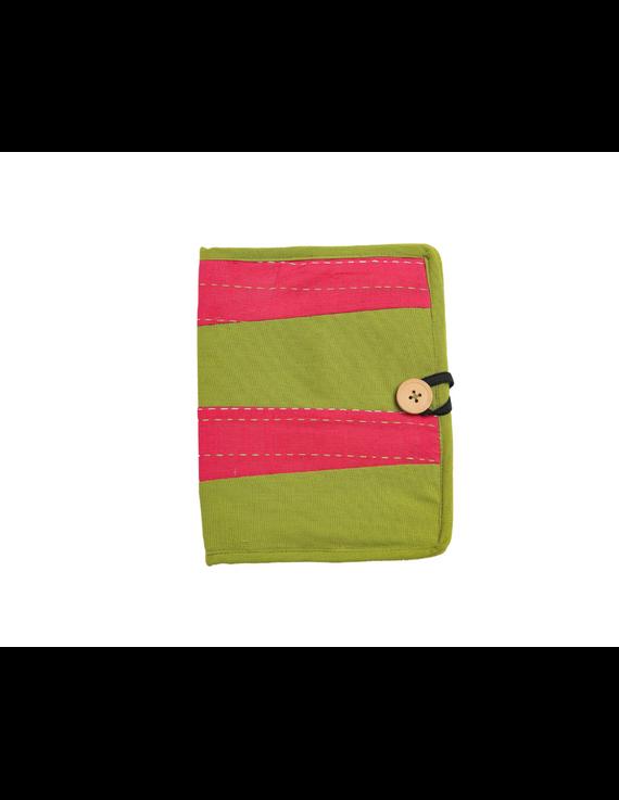 Reusable diary with sleeve - green : STJ03-Ruled-6