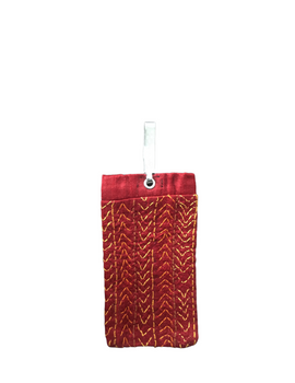 Silk Cell Phone pouch with saree hook : CPS01-3-sm