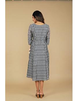 Grey LEAF IKAT DRESS : LD390B-S-2-sm