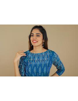 BLUE LEAF IKAT DRESS : LD390C-XL-4-sm