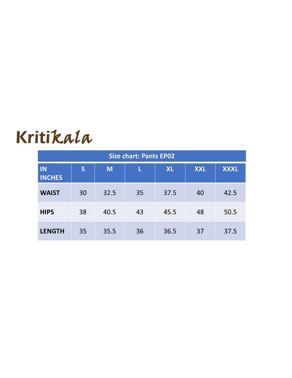 Cream cotton narrow pants with elasticated waist: EP02B-L-4