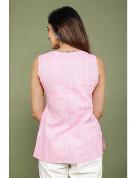 Summer Trellis Short Top In Pink Mangalagiri : Lb120A-XL-4-sm
