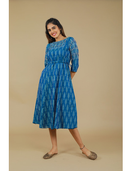 BLUE LEAF IKAT DRESS : LD390C-XL-1-sm