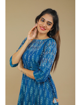 BLUE LEAF IKAT DRESS : LD390C-XL-2-sm
