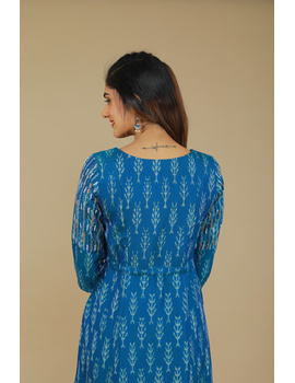 BLUE LEAF IKAT DRESS : LD390C-XL-3-sm