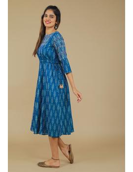 BLUE LEAF IKAT DRESS : LD390C-LD390C-XL-sm